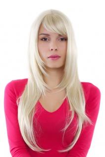 Perücke WIG lange glatte Haare helles blond Länge: ca. 70 cm GFW09-613