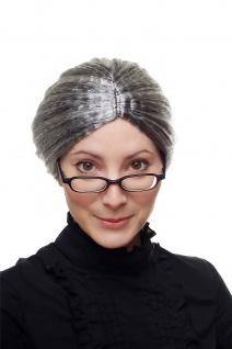 Perücke Gouvernante Oma Granny Schwarz+graue Strähnen grau streng 69020-P103-68