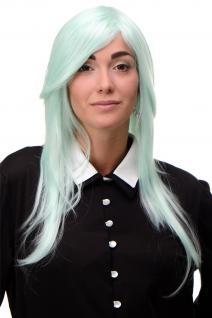 Perücke Wig sehr lang Grün Helles Türkis gestuft glatt Scheitel 75cm 3110-T5507
