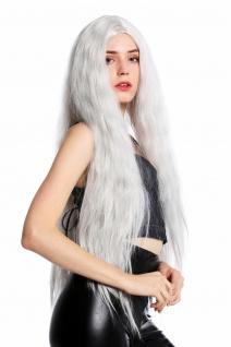 WIG ME UP Perücke Damenperücke lang voluminös gekreppt Mittelscheitel Grau
