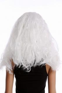 Perücke Damen Herren lang weiß geflochtene Zöpfe Eisprinzessin alter Wikinger - Vorschau 3