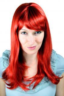 Rothaarige Perücke rote glatte Haar schicker Pony Langhaarfrisur 6310-137 50cm