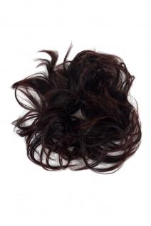 Haarteil Kunsthaar Scrunchy Haarband Zopf Kastanienbraun YZF-3054HT-2T33