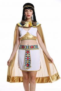 Kostüm Damen Frauen Karneval Ägypterin Kleopatra Cleopatra Pharaonin weiß M