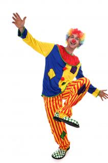 DRESS ME UP Kostüm Clown Herren Damen Kostüm Zirkus Kindergeburtstag Gr.S/M L204