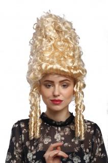 Perücke Damen Karneval Historisch Barock blond Marie Antoinette Turmfrisur