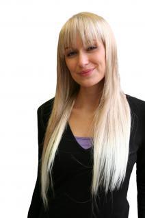 Perücke ENGEL & VAMP blond lang glatt PONY NEU&OVP