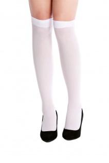 Strümpfe Stockings kurz Kniestrümpfe weiß Krankenschwester Gothic Lolita W-019W
