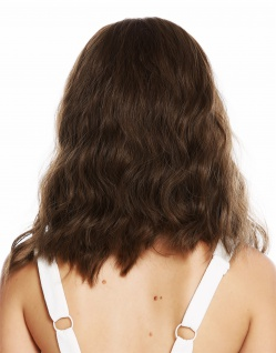 Perücke Damenperücke lang voluminös gewellt Mittelscheitel Braun Mix DL-012 - Vorschau 4