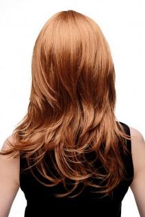 Damenperücke lang Perücke rotblond blond Pony Scheitel frisierbar gestuft 4038 - Vorschau 4