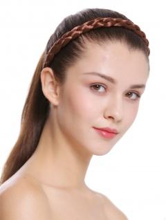 Haarband Haarreif geflochten Tracht traditionell rotbraun braid CXT-006-033