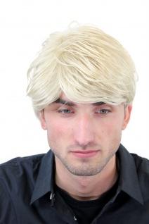 Perücke Herren Männer Kurz Jugendlich Lässig Modisch Blond Scheitel GFW967-22