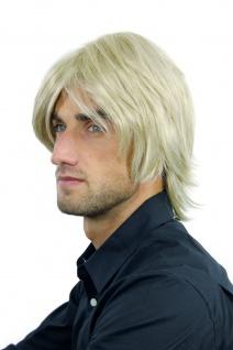 Perücke Herrenperücke Männer Rockstar Lang Voluminös Hellblond Mix Blond WL-2253 - Vorschau 4