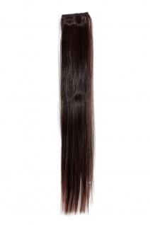 2 CLIP Extension Strähne glatt Kastanien-Braun YZF-P2S18-2T33 45cm Haarteil