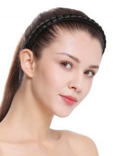 Haarband Haarreif geflochten Tracht traditionell tiefschwarz braid CXT-003-001