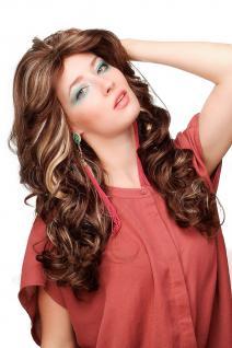 Perücke Star Diva Braun Blond gesträhnt lang gewellt voluminös WL-3010-6H24B