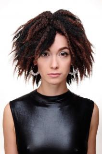 Damenperücke Perücke Karibik Afro Schwarz Mahagoni Krepplocken Volumen GFW1836 - Vorschau 2