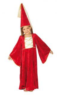 Rubies: Burgfraeulein Kinderkostüm Modell 1/2411 Hofdame Prinzessin Königin