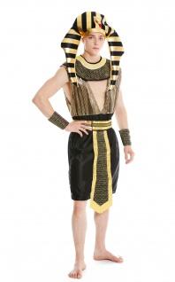 Kostüm Herren Männer Karneval Halloween Ramses Ägypter Pharao S/M - Vorschau 5