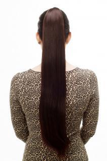 Haarteil/Zopf, sehr lang, glatt, Butterfly-Klammer, 70 cm, Braun, Kastanie, T113-2T33