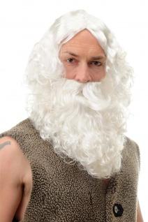 Karneval Fasching Weihnachten Weihnachtsmann Perücke & Bart Santa Claus 6095A+B