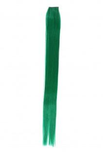 1 Clip Extension Strähne Haarverlängerung glatt Dunkelgrün 45cm YZF-P1S18-T2615