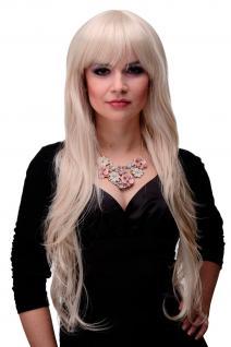 Wellige lange Perücke mit schönem Pony Blond Blond-Mix ca. 80cm 6311-303/220