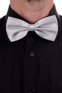 DRESS ME UP - Halloween Karneval Fliege Bowtie Silber Gentleman Grau W-071G