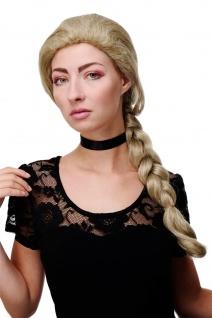 Damenperücke Perücke lang geflochtener Zopf Mädel Traditionell Blond Mix GFW1782