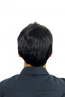 Perücke Herrenperücke Männer kurz schwarz glatt K-006-1B Perrücke - Vorschau 3