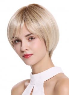 WIG ME UP Perücke Damenperücke Monofilament handgeknüpft kurz glatt Blond Mix
