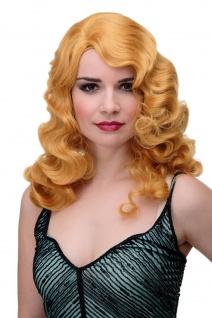 Perücke Classic Hollywood Wasserwelle gewellt Blond helles Kupferblond GFW1860