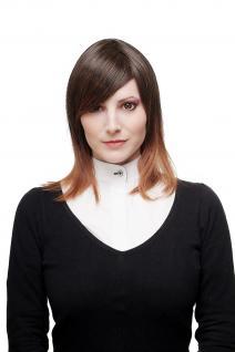 Perücke Damenperücke Ombre Hair Braun/Rotbraun Mischung schulterlang glatt SA079