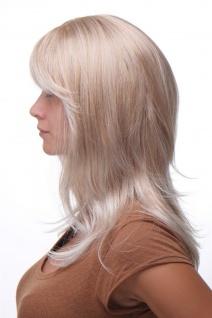Damenperücke lang Perücke Blond gesträhnt Pony Scheitel frisierbar gestuft 4038 - Vorschau 3