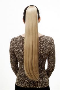 Haarteil/Zopf, sehr lang, glatt, Butterfly-Klammer, ca 70 cm, Hellblond, T113-22