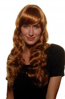 HOLLYWOOD, Femme Fatale, Damen, Perücke, Wig, kupferrot, rot, gewellt, DIVA, 60cm, 9255-27