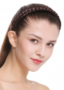 Haarband Haarreif geflochten Tracht traditionell mattes braun braid CXT-003-035