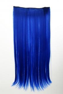 Haarteil Extension breit Haarverlängerung 5 Clips glatt Neonblau YZF-3177-TF2517