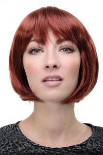 Wig Me Up Sexy Bob Perücke Gerader Pony Rot Kupferrote Kurze Haare