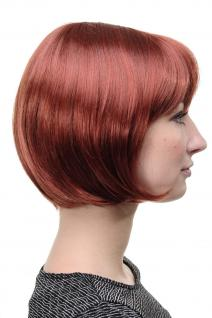 Wig Me Up Sexy Bob Perücke Gerader Pony Rot Kupferrote Kurze Haare 703 350