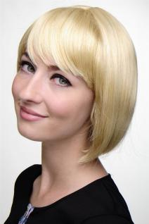 WIG ME UP - Sexy Bob Perücke gerader Pony blond helles goldblondes Haar 703-611
