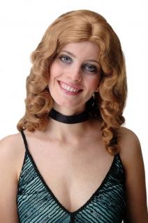 Damen Perücke Wasserwelle Classic Hollywood Diva gewellt lang Blond Mix
