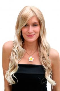 Damenperücke blond lang mit Scheitel leicht wellig Perücke ca.60 cm 9320-27T613