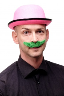 Karneval Fasching Halloween Bart grün Schnurrbart Mustache Irland St. Patricks