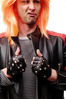 Karneval Fasching Rockerhandschuhe Biker Rocker Handschuhe Punk Nieten - VQ-001