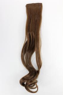 2 Clips Extension Strähne wellig Hell-Braun YZF-P2C18-10 45cm Haarverlängerung