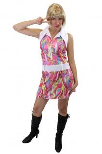 Groovy Sexy Kleid Kostüm Damen Swinging Sixties Paisley 60er Beatnik 70er L010