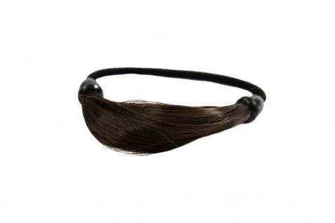 Unsichtbarer Haargummi in Haaroptik Kunsthaar Zopfgummi Braun NHA-003B-10