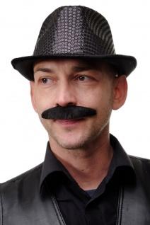 Karneval Fasching falscher Bart schwarz breit Schnauzbart Schnauzer MM-81
