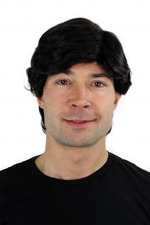 Männerperücke, Men, Wig, schwarz, schwarzbraun, Länge: ca. 30 cm, GFW355A-2